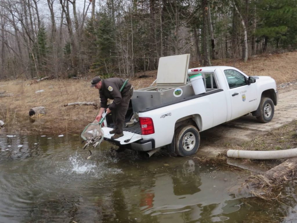 Coordinating with the Genoa National Fish Hatchery, the program facilitates regular fish stocking in the FCP Lakes to enhance angling opportunities for community members.